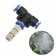 10 pcs slip lock nozzle with filter 0.2-0.6mm low pressure 5-15bar Quick-connect mist cooling Sprinklers garden watering tools(China)