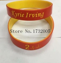 Free Shipping 50 pcs  Popular  Basketball Team  Wristband Silicone Promotion Gift Filled In Color Bracelet  Y-13