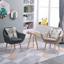 nordic moderne eenvoudige lui couch stoel slaapkamer kleine appartement single woonkamer leisure stof balkon sofa tafel en stoel