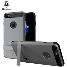 Baseus iBracket Kickstand Case For iPhone 7 / 7 Plus Dual Protective Shockproof Cover Case PC+TPU 60 Degree Rack Stand Phone Bag