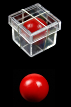 2 pcs New Amazing Funny Clear Ball Through Box Illusion Magic Magician Trick Game Sell Hotting Drop Free Shipping GYH