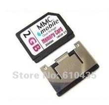 Wholesale MMC memory card 1GB 2GB full capacity MOQ 1pc Free shipping and Free adapter