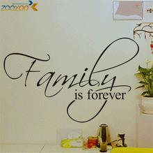 family is forever home decor creative quote wall decals zooyoo8068 decorative adesivo de parede removable vinyl wall stickers(China)