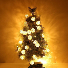 20LED Solar Light String Beads on The Tree Holiday Christmas Tree Lights Balls Warm White Creative Garden Home Decoration