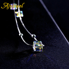 Ajojewel High Quality SWA Element Cube Austrian Crystal Bracelets For Women Best Gifts For Mother Wife Sister Friends(China)