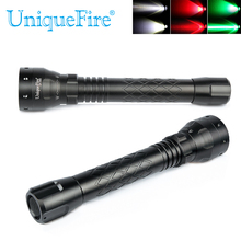 UniqueFire UF-1502 XRE Green Light 300LM Waterproof LED Flashlight 3 Modes Customized Zoomable Lanterna LED Torch Lampe(China)