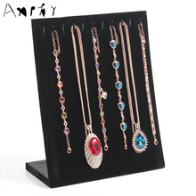 High Quality L Shape Necklace Display Shelf Pendant Holder Hook Necklaces Display Rack Bracelet Stand Factory A163-1(China)