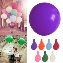 1Pcs Colorful blow up 36 Inches Balloon Ball Helium Inflable Big Latex Balloons For a Birthday Party or weeding Decoration(China)