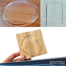 2pcs Transparent Circle Rectangle Sticky Gel Pad Auto Car Phone Gel Holder Pad Anti Slip Mat Car Dashboard Sticky Pad