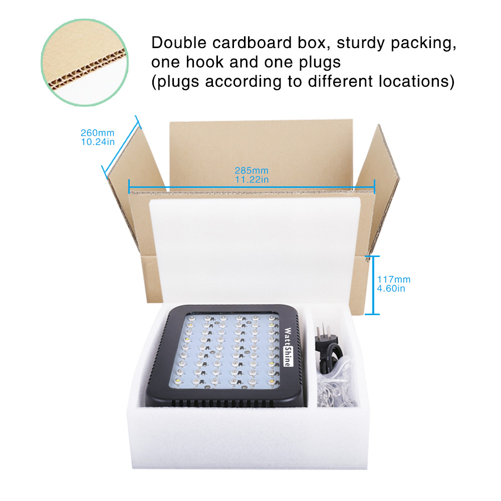 Wattshine Full spectrum 300W grow lamp 16 bands No rust Intelligent Temperature control Safety Energy saving Certification CE  (23)