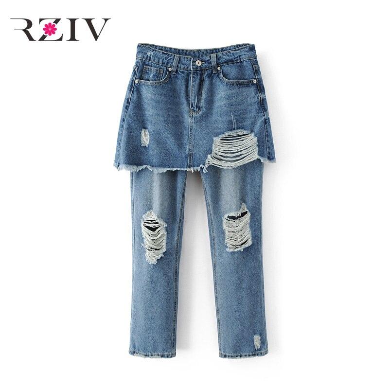 RZIV 2017 skinny jeans woman casual high waist jeans solid color stitching jeans Îäåæäà è àêñåññóàðû<br><br>