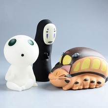 Studio ghibli No Face Totoro Bus Princess Mononoke Money Box Miyazaki Hayao Anime Action Figures Piggy Bank Kids Toys