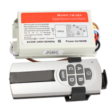 DIY 1/2/3/4 Ways ON/OFF 220V Wireless Remote Control Switch Digital Remote Control Switch for Lamp & Light --M25(China)