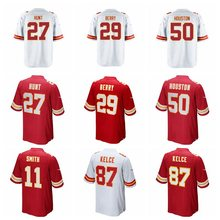100% Stitiched Men's Eric Berry Travis Kelce Justin Houston Alex Smith Kareem Hunt jerseys(China)