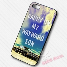 Supernatural Carry On  Phone Case Cover For iPhone SE 4 4S 5S 5 5C 6 6S Plus 7 7Plus Samsung Galaxy S3 S4 S5 MINI S6 S7 Edge