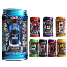Coke Can Mini Speed RC Radio Remote Control Micro Racing Car Toy Gift Random Color(China)