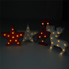 3D Star Cloud Crown Unicorn LED Night Lights Party Props Children Gifts Table Lamp Kids Room Decoration Bedroom Home Decor(China)
