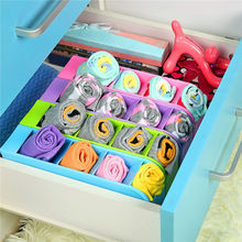2pcs/lot Blue Desk Table Drawer Organizer Storage Divider Box Tie Bra Socks Cosmetic Plastic