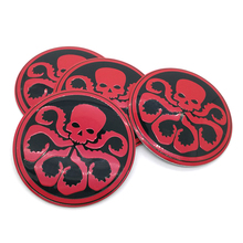 Octopus skull Car Steering tire Wheel Center car sticker Hub Cap Emblem Badge Decals Symbol For VW Jaguar Audi BMW Nissan Ford(China)