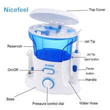 Nicefeel 600ml Portable Air Dental Flosser Water Floss Oral Hygience Toothbrush Care Teeth Cleaner Irrigator Interdental Brush
