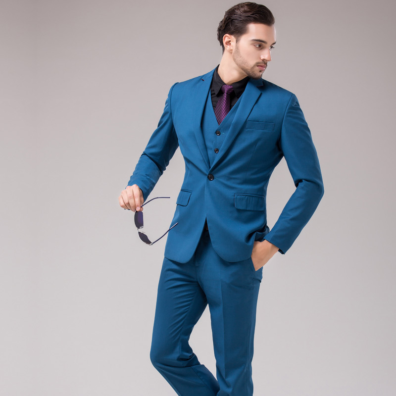 Compare Prices on Blue 3 Piece Men Suit- Online Shopping/Buy Low ...