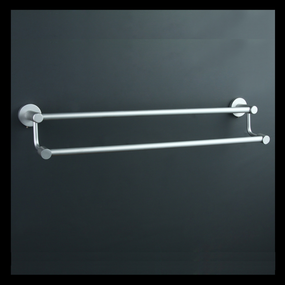 Free Shipping Wall Mounted Space Aluminium Double Towel Bars,Towel Rail, Towel Holder,Bathroom Hardware,Wholesale-8123<br><br>Aliexpress