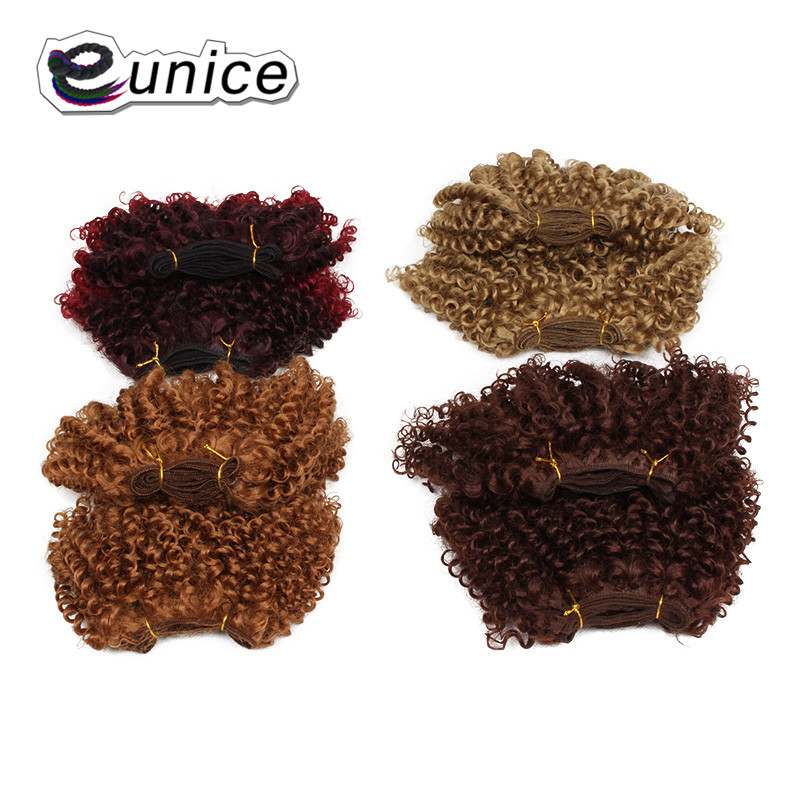 synthetic weaving 8INCH Jerry curly Braid ombre braiding hair weft extentions  (29)