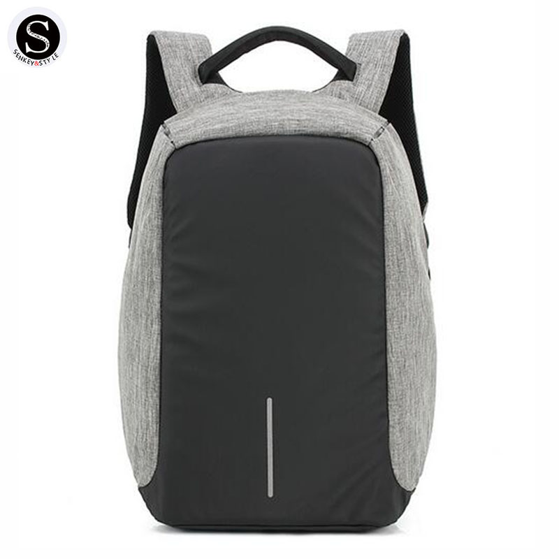 Senkey Style Fashion Waterproof Oxford Men Backpack Laptop USB Charging 2017 Travel Famous Brands School Bags For Teenagers Bags<br>