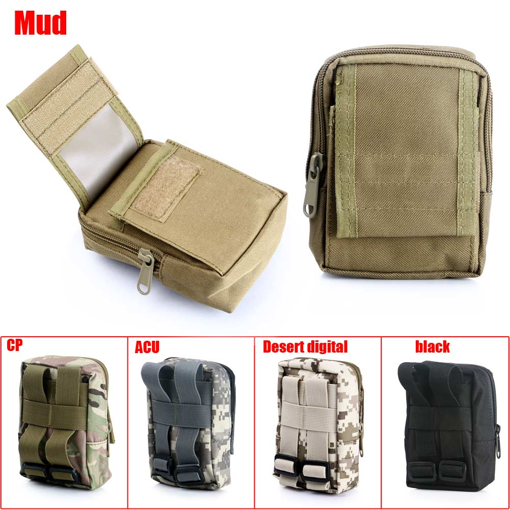 2017 Waterproof Military Tactical Camping Travel Hanging Molle Waist Belt Purse Outdoor Sport Bag Mini Pouch Military Tool Bag