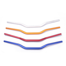 "7/8"" Blue Motorcycle Euro Bars Handlebars Custom Wide Fixed Gear Bike Bicycle Cycling Alloy Riser For Honda Suzuki Yamaha Ducati(China)"