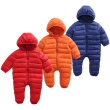 Winte Kids Warm Jumpsuit Children Padded Infant Puffer Jacket Siamese Newborn Baby Romper Climbing Suit Clothing Down Jacke