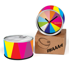 Free Shipping Seven Colors 2pcs/lot Rainbow Colourful Kitchen Fridge Magnets Aluminum Can Wall Clocks,Metal Tin Desk Clocks