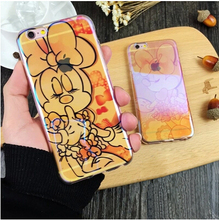 Laser Soft Cute Cartoon Mouse Case Cover For Apple iPhone 6 6S Case Silicone 6 Series Big Bow Girl Case For Phone