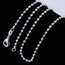 "Accessories necklace ball chain 2MM 16""-24"" Accessories silver necklaces Ornaments fashion necklaces for Female C002"