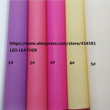 3PCS A4 SIZE (21x29cm) jelly nubuck PVC Leather for DIY P1064A Touch soft(China)