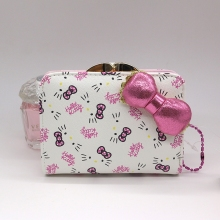 Japanese style Genuine Hello Kitty purse money High-quality PU wallet Bow decoration