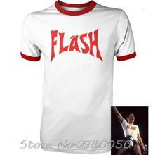 FREDDIE MERCURY FLASH GORDON QUEEN ROCK BAND TSHIRT RETRO HIP HOP FANCY DRESS 80's Top Tee Front&Back Printing Men's T-shirt