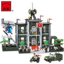 ENLIGHTEN 825 CITY Police Headquarters Motocycle Helicoper Truck Assemble Model Building Blocks minifig Kids Toys