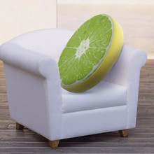 New Summer Fruit PP Cotton Office Chair Back Cushion Creative 3D Sofa Throw Pillow New 33cm 40cm(China)