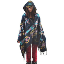 Autumn And Winter Ox Horn Buckle Hooded Shawl Cloak scarf women poncho foulard scarves pashmina plaid echarpe giant wool blanket(China)