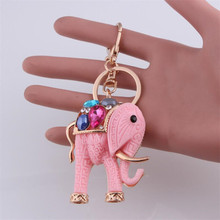 Cute Elephant Keychain Key Chain & Key Ring Holder Keyring Porte Clef Gift Men Women Souvenirs Bag Pendant Phone Key Accessories