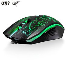 Original One-Up Wired Gaming Mouse Backlit A5050 Chip 6 Buttons Optical Computer Mouse USB Game Mouse Gamer 30IPS for LOL