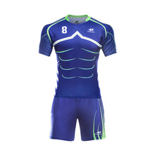 Hot sale High Quality Kids short sleeve Full sublimation Rugby jerseys(China)
