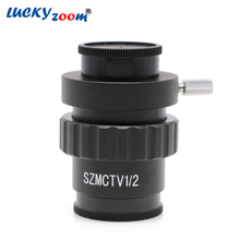 Low Price 0.5X C-mount Lens Adapter 1/2 CTV Adapter For SZM Trinocular Stereo Microscope Camera Accessories Free Shipping