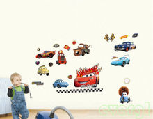 Cute Racing Cars in the Movie Wall Sticker Nursery Kids removable wall stickers