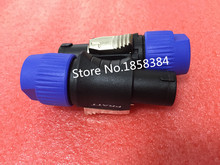 Free shipping 20pcs/lot 4Pin Speakon Cable Connectors 4 Pole Plug Male Audio Speaker Connector(China)