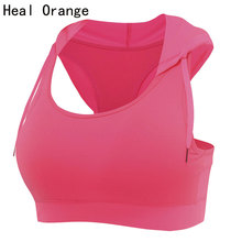 HEAL ORANGE Womens Running Vest Hooded Sports Bra Padded Corsets Gym Sports Vest Womens Tank Tops Bodybuilding Fitness Shirt(China (Mainland))
