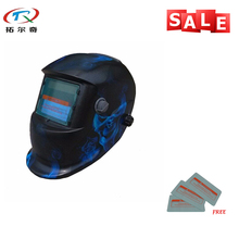 Din16 cheap mig tig replaceable battery good quality Electronic Custom Auto Darkening Welding Helmet TRQ-HD40-2233FF