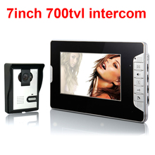 HD 700Tvl cmos color video doorphone 7inch video intercom system