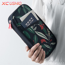 Floral Pattern Travel Passport Wallet Multifunctional Credit Card ID Holder Travel Storage Bag Passport Holder Protective Case(China)